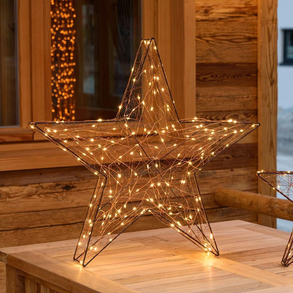 Stella Di Natale Tridimensionale.Stella Luminosa 3d 180 Microled Bianco Caldo