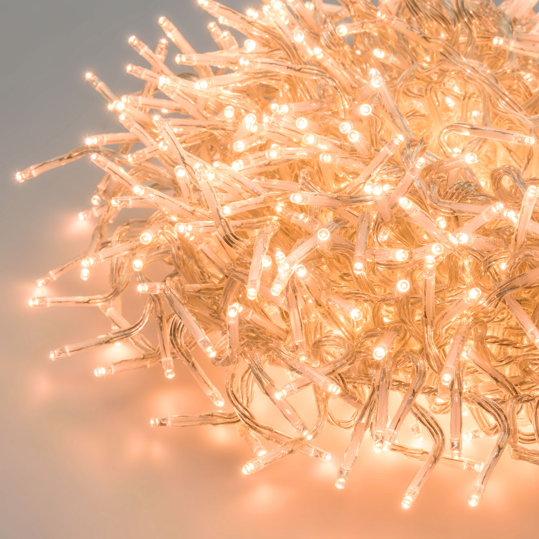 1500 Mini LEDs warmweiß traditionell Cluster-Lichterkette 15 m