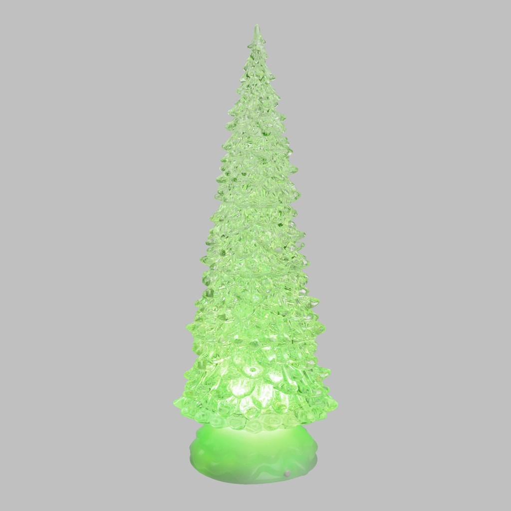 Weihnachtsbaum aus Acryl wasserbefüllt h 32 cm, LED bunt RGB ...