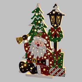 93c31d0ff42 Adorno navideño con luces y purpurina a pilas