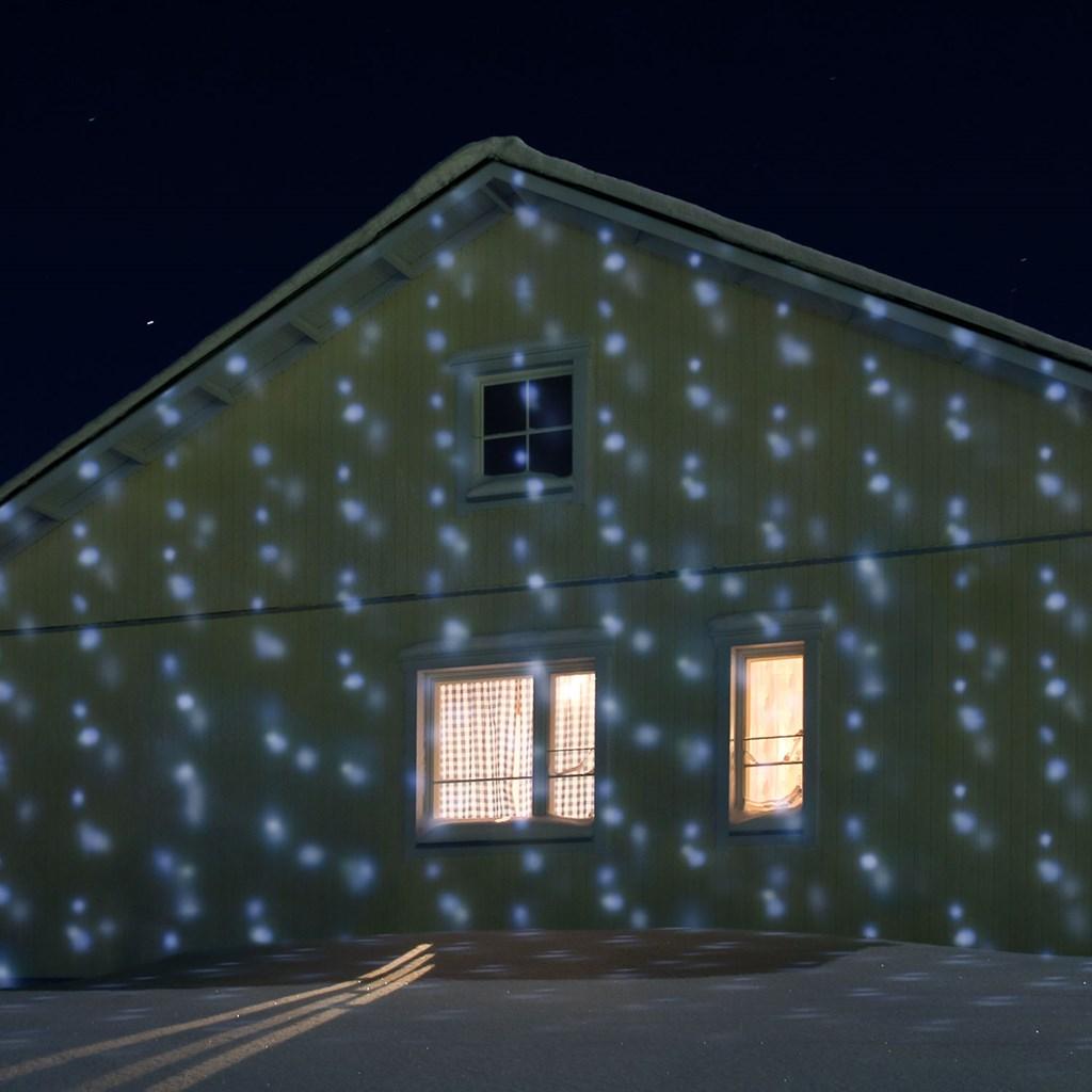 Projecteur effet chute de neige automatique led blanc froid projecteurs led et laser for Projecteur laser neige