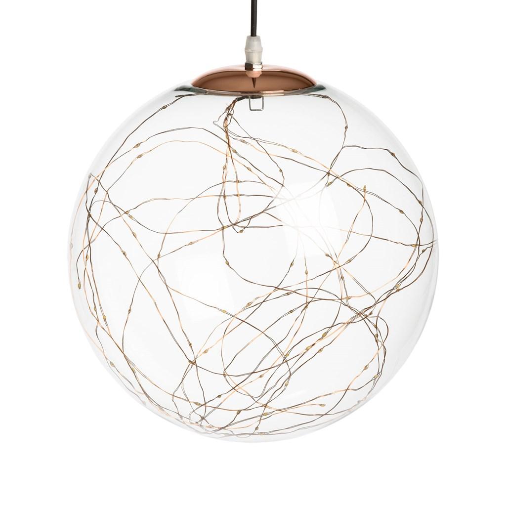 glaskugel zum aufh ngen 30 cm 100 micro leds warmwei auf metalldraht motive zum aufh ngen. Black Bedroom Furniture Sets. Home Design Ideas