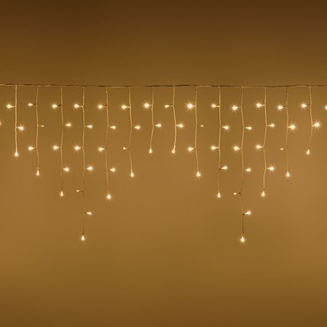 Stalactite 4,2 x h 0,7 m, 186 led blanc chaud, câble blanc, prolongeable