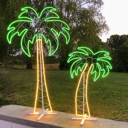 lampe palmier en tube n on double face h 120 cm 672 led. Black Bedroom Furniture Sets. Home Design Ideas