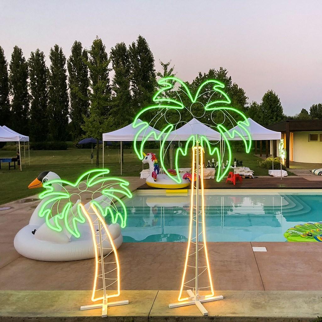 palmier en tube n on double face h 120 cm 672 led blanc. Black Bedroom Furniture Sets. Home Design Ideas