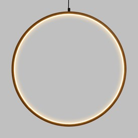 Design Wood Light, LED-Lichtkreis aus Naturholz, 57 cm, warmweiß, innen