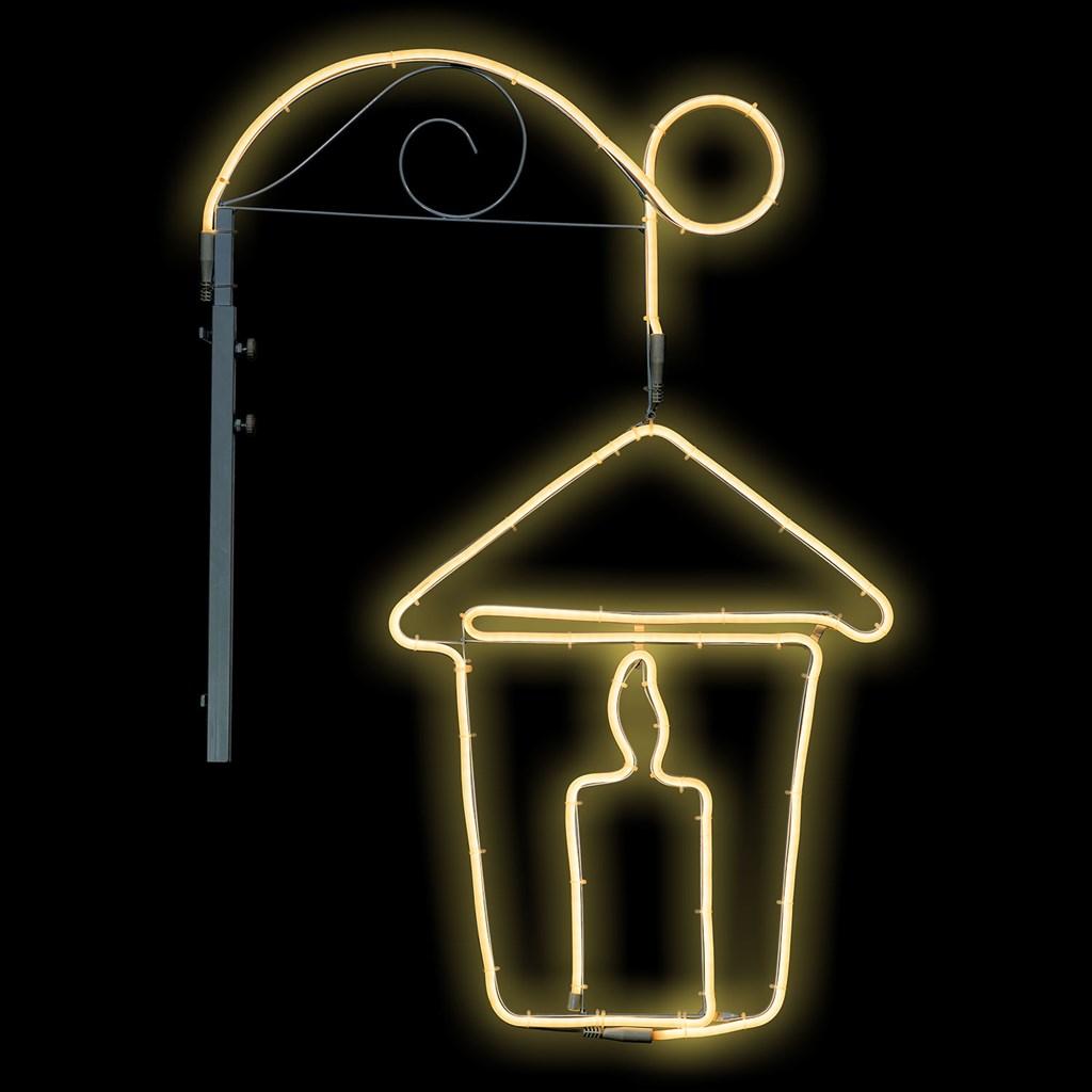 Neon A Accrocher Au Mur lampe lanterne suspendue accrochée en tube lumineux effet néon, 90 cm, led  blanc chaud