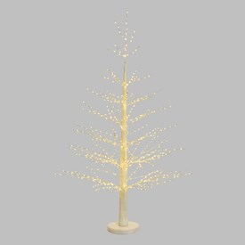 Árbol luminoso blanco Micro Led h. 1,6m