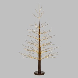 Árbol luminoso marrón Micro Led h. 1,6m