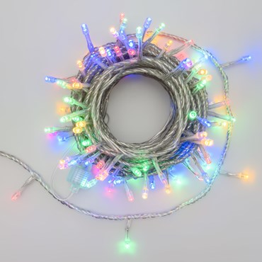 Guirnalda de luces Smart Connect 10m cable transparente prolongable, 100 Led multicolor