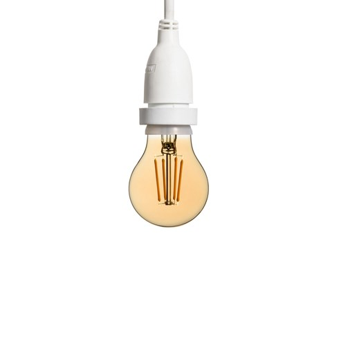 Ampoule vintage goutte Ø 67 mm dimmable en suspension, avec câble blanc (4 m)