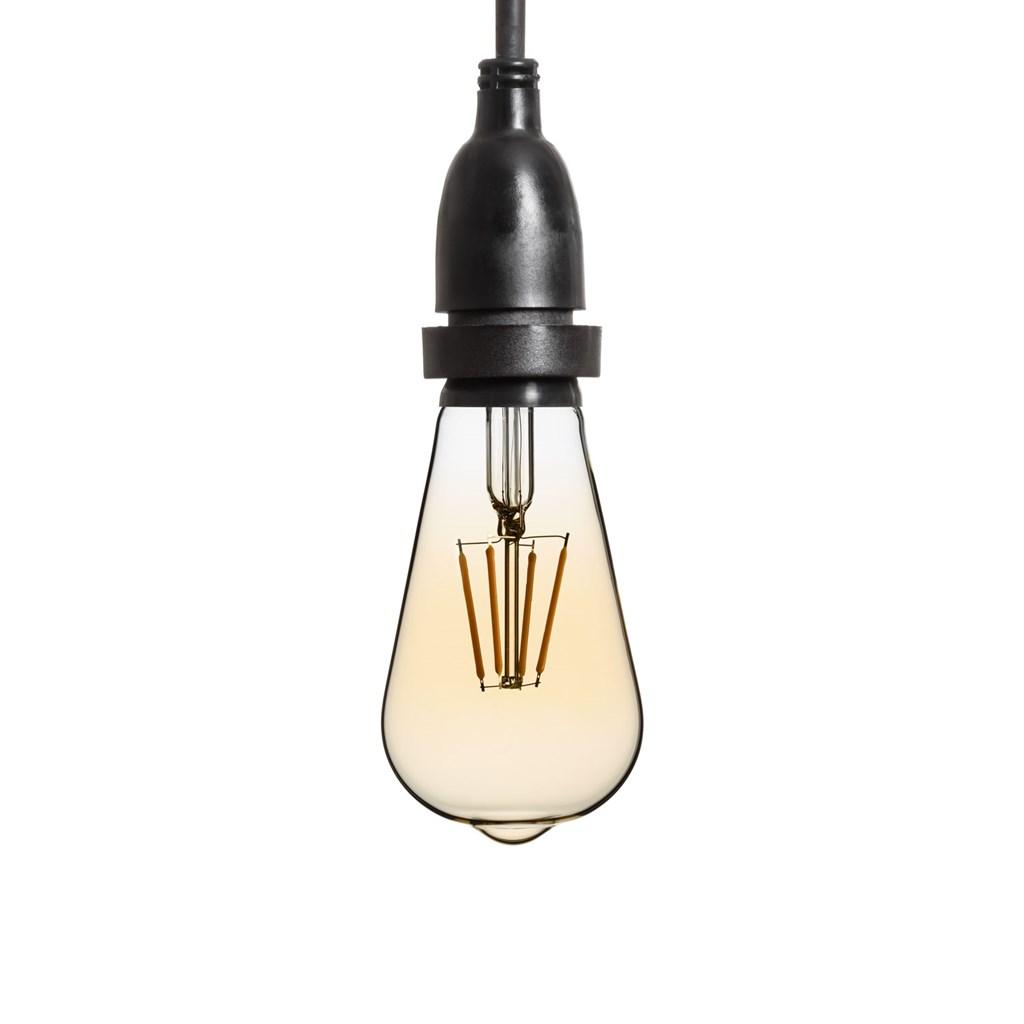 guirlande guinguette avec ampoules verre en suspensions led edison vintage 64 mm h 70 cm. Black Bedroom Furniture Sets. Home Design Ideas
