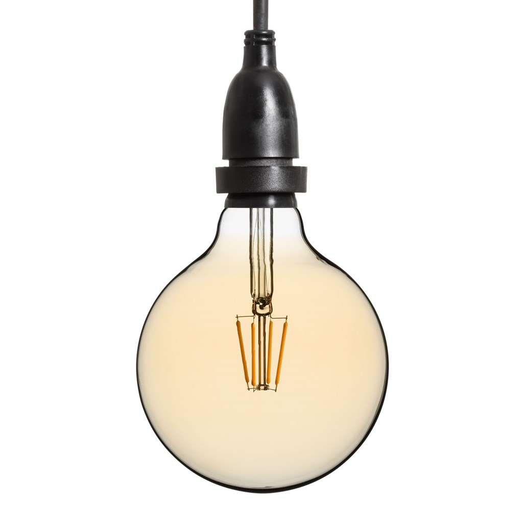 Hängende LED-Globo Birne Ø 125 mm, schwarzes Kabel 3 m - Vintage Led ...