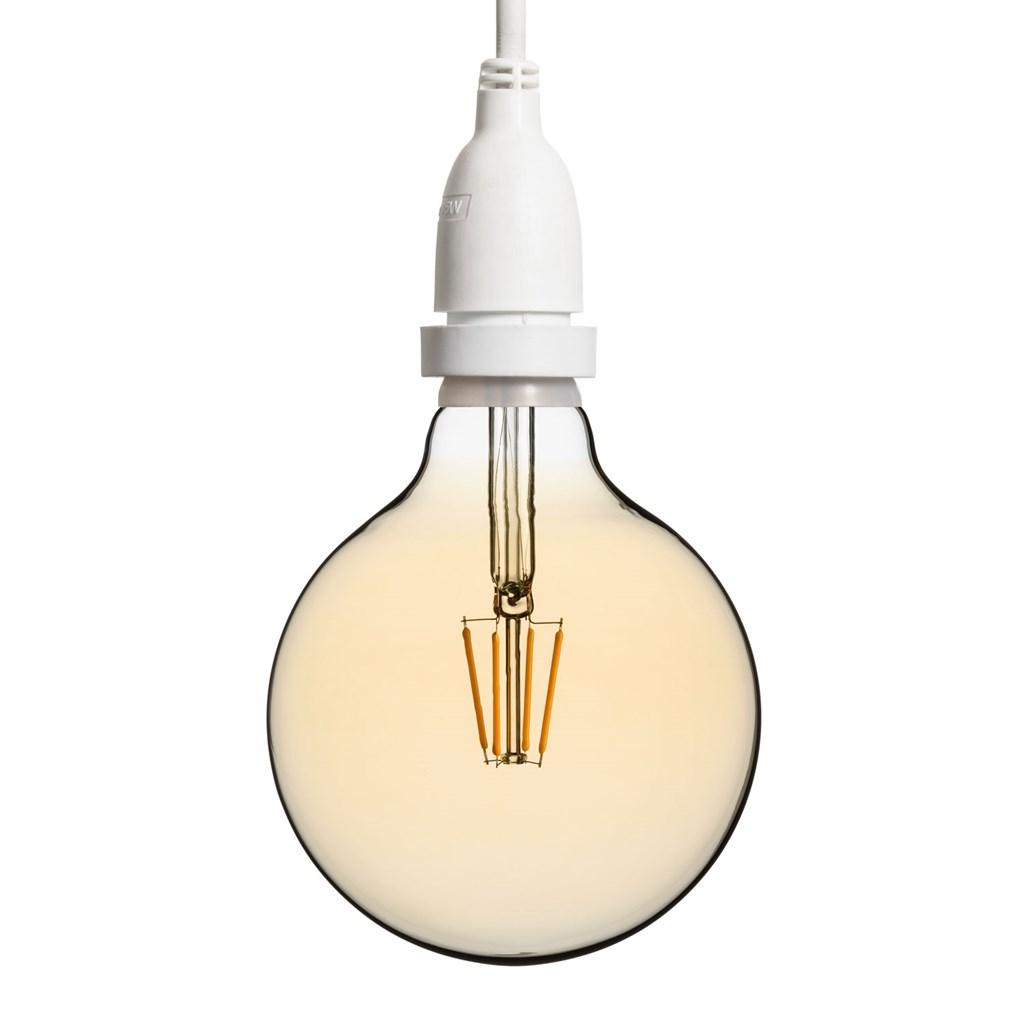 Hängende LED-Globo Birne Ø 125 mm, weißes Kabel 4 m - Vintage Led ...