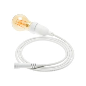 Ampoule vintage goutte Ø 67 mm dimmable en suspension, avec câble blanc