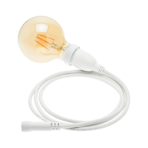 h ngende led globo birne 95 mm wei es kabel vintage led pro h ngende lampen. Black Bedroom Furniture Sets. Home Design Ideas