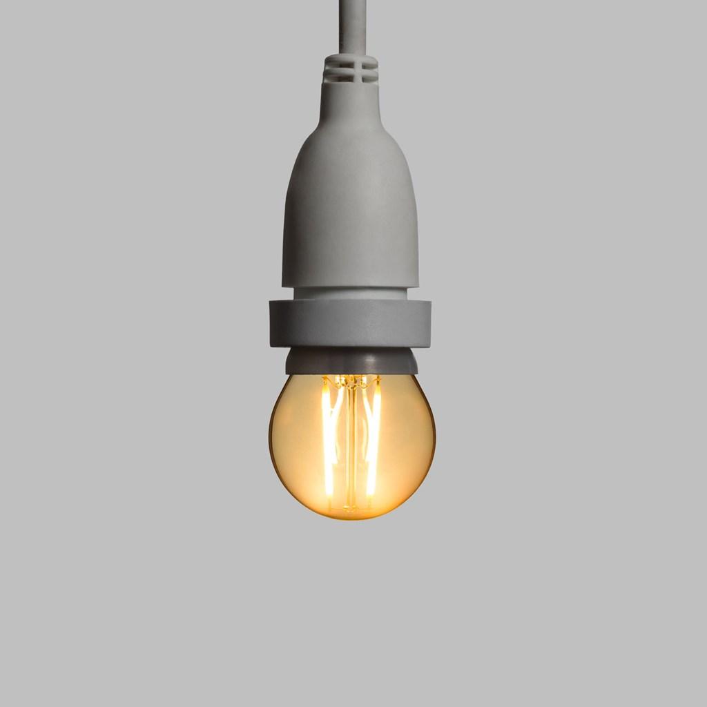 suspension ampoule led vintage globe 45 mm 2 m tres. Black Bedroom Furniture Sets. Home Design Ideas