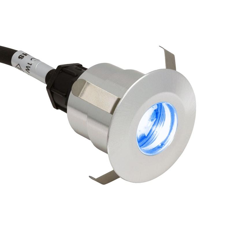 Minispot a led blu per esterno 1w in alluminio 12v faretti da incasso led - Fari da incasso per esterno ...