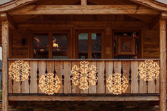 Guirlande lumineuse noel balcon