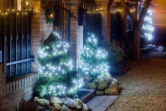 Illuminazione natalizia giardino luminal park