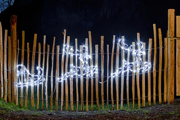 Weihnachtsbeleuchtung 2018 LED-Rentiere